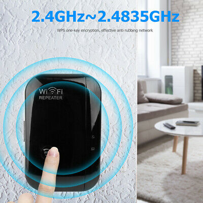 UK WiFi Signal Booster Repeater Extender Range Network Wireless Amplifier Home • 14.99£