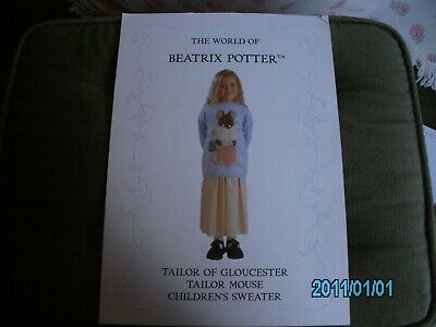 Knitting Pattern For Childs Beatrix Potter Jumper • 1.79£