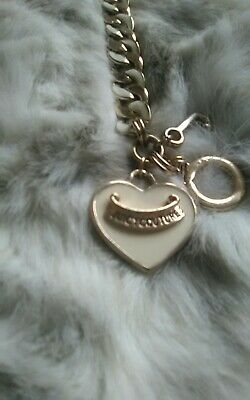 Juicy Couture Chunky Charm Bracelet Gold&cream Enamel • 8£