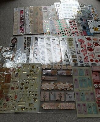 Job Lot Bundle Of Card Making/ Scrapbooking Embellishments & Stickers • 7£