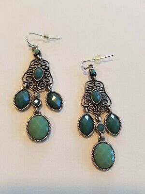 $ CDN11.55 • Buy Beautiful Lia Sophia  ST. TROPEZ  Chandelier Statement Earrings, Teal Blue