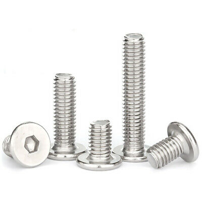 AU3.35 • Buy M3 M4 M5 M6 M8 SS Allen Hex Socket Ultra Thin Low Flat Wafer Cap Head Screw Bolt