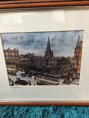 Terry Gorman, The Cathedral, Sheffield, Framed And Signed Print • 25£