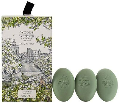 Woods Of Windsor Lily Of The Valley Luxury Soap For Her 3x60g • 9.40£