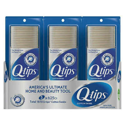 $ CDN27.89 • Buy 3 X Q-TIPS COTTON SWABS 625 Ct - Brand Sealed - 1875 Total Count