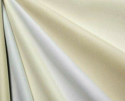 £4.98 • Buy Double Width Ivory Cotton Twill Curtain Lining Fabric Material 274cm Wide