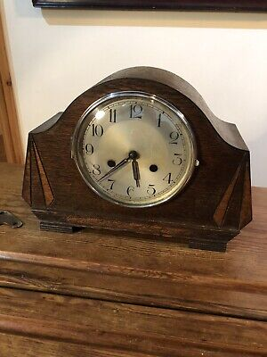 Vintage Art Deco Mantle Clock By Haller Germany , 8 Day With Chimes , C:-1930s . • 50£