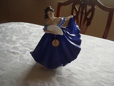 Royal Doulton Elaine Blue Dress 1979 Hn2791 In Perfect Condition • 34.99£