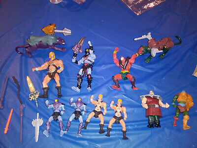 $25 • Buy Vintage Lot Of 10 He-Man Masters Of The Universe  Figures Large And Small RARE