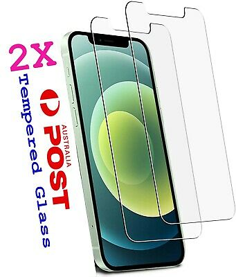 AU3.65 • Buy 2xTempered Glass Screen Protector Apple IPhone 12 11 Pro XS Max XR 8 7 6s Plus 4