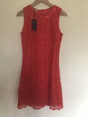 Guess Coral Lace Style Mini Dress Size Small • 19£