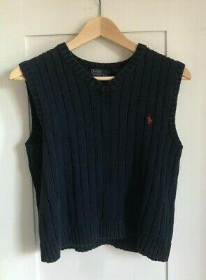 Polo Ralph Lauren Navy Knitted Sweater Vest Tank Top Size S • 12£