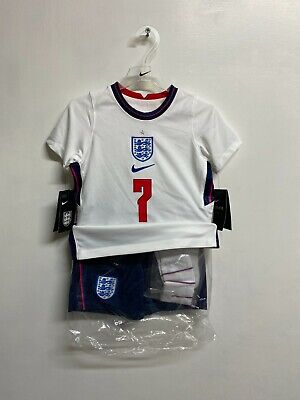 England Nike Kid's 2020-21 Home Kit - 3-4 Years - Sterling 7 - New • 34.99£