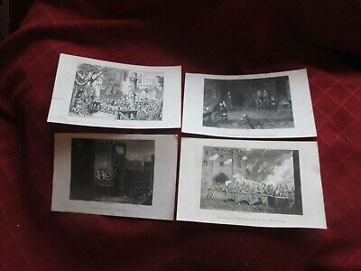 4 X 19th C. George Cruikshank Book Prints.London.  • 4£