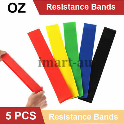 AU6.99 • Buy 5PCS Resistance Bands Power Heavy Strength Exercise Crossfit Yoga Stretch Strap