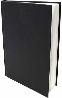 £5.99 • Buy A5 Art Book Artist Sketchbook Hardbound Faux Leather 140 Gsm White Paper 48 Page
