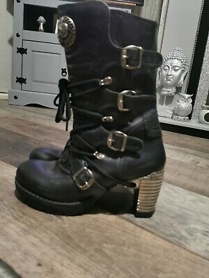 NEW ROCK BOOTS Size 7 - Used GOTH GOTHIC • 24.95£