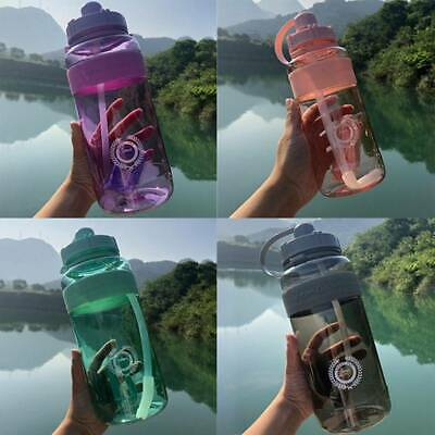 AU11.93 • Buy 1/2L Large Sport Gym Training Big Drink Water Bottle Cap Kettle With Straw Nice