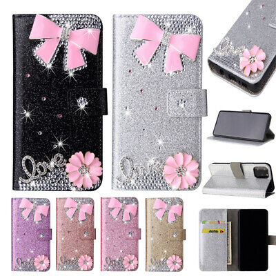 £5.99 • Buy 3D Bowknot Bling Wallet Phone Case Cover For Samsung A 51 6 71 80 90 41 A10 A21S