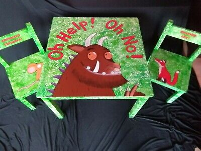 Unique, Upcycled Children's Table And Chairs. Gruffalo Themed. Hand Painted. • 60£