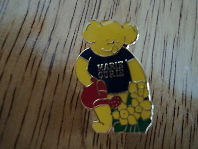 NEW Collectible MARIE CURIE Enamel Pin Badge - Bear Watering Daffodil Flowers • 3.50£