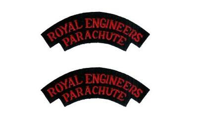WW2 British Army Royal Engineers Parachute Shoulder Titles Badges Patches • 8.75£