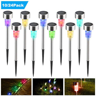 Solar Powered Garden LED Stake Lights For Patio Lawn Decor Color Changing/White  • 12.79£