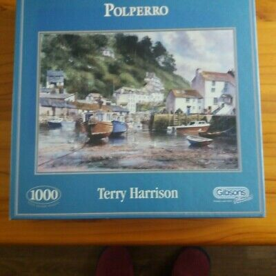 1000 PIECE - POLPERRO HARBOUR - Very Good Condition -TERRY HARRISON - • 1.30£