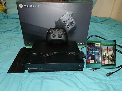 AU40 • Buy Microsoft Xbox One X 1TB Black Home Console - (Excellent Condition)