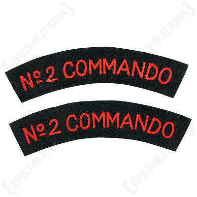 WW2 British Army Navy 2 Commando Shoulder Sleeve Titles Patch Badge • 8.95£