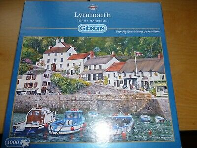 Gibsons 1000 Pieces Lynmouth By Terry Harrison Very Good Cond Jigsaw See Details • 3.99£