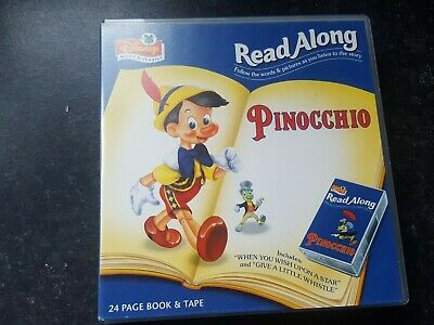 Disney Read Along Pinocchio..storybook And Cassette..good Condition • 3£