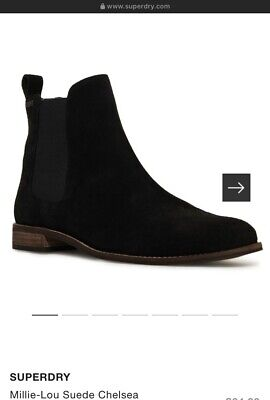 Superdry Womens Millie-Lou Suede Chelsea Boots UK4 • 28£