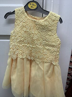 Baby Girls Dress Top Lined Yellow  9-12 Months Brand New • 7.98£