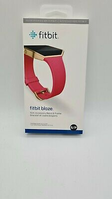AU75 • Buy Genuine Original Fitbit Blaze Band And Frame Pink With Gold Steel