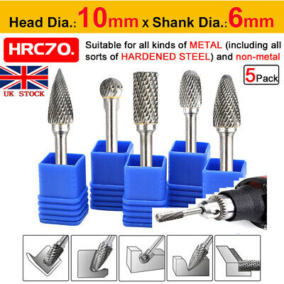 Tungsten Carbide Rotary Burr Set Wood Carving Drill Bits Set DIY Woodworking • 13.89£