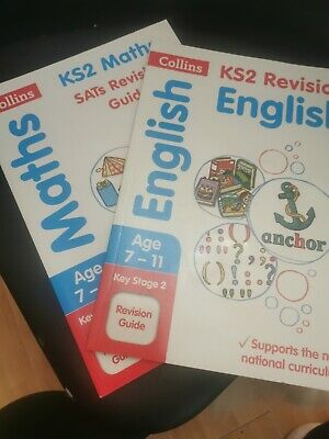 Collins Revision Ks2 English And Maths Books Age 7-11 Year 3-6 • 5.50£