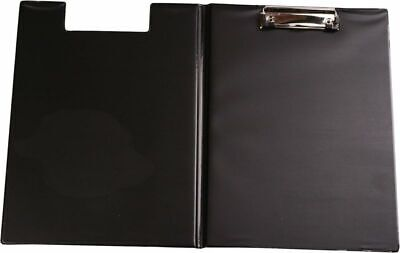 A4 Clipboard Black With Cover Plastic Fold-Over Office Document Holder Filing  • 8.89£