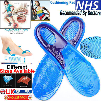 Shoe Insoles Arch Support Orthotic Silicone Gel Massaging Feet Heel Inserts Pads • 3.99£