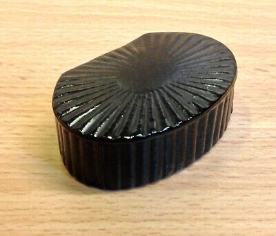 £29.95 • Buy Antique Ribbed Pattern Wooden Hinge Lidded Snuff-Box.