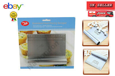 Tala Stainless Steel Pastry Dough Cutter Scraper With Measure Bread Pizza Pies  • 6.99£