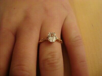 Elegant Stunning 1.2ct Solitaire 10ct Yellow Gold Ring Size N1/2  Beautiful • 69.99£