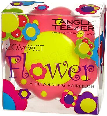 Tangle Teezer Compact Flower Hairbrush Yellow Pink For Kids Limited Edition • 9.99£