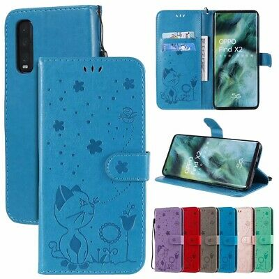 AU2.99 • Buy Cat Bee Wallet Leather Flip Case Cover For OPPO Realme C15 C11 Find X2 Neo Lite