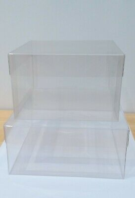 £15 • Buy Clear Acetate Jewellery & Gift Boxes With Lids. Size 138mmx128mmx80mm/Lid -25mm