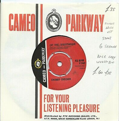 Chubby Checker:(At The) Discotheque/Do The Freddie:Cameo Parkway:Northern Soul • 35£
