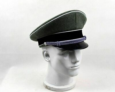 Wwii German Elite Officer Hat Officer Army Wool Visor Crusher Cap In Size Xl • 22.30£