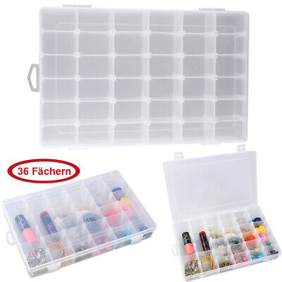 £7.99 • Buy Clear Storage Organiser Compartment Craft Beads Jewellery Tool Box Case Durable
