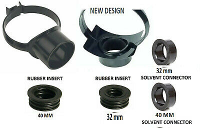 Black 110mm Soil Pipe Strap Boss Waste Pipe Strap Various Size Rubber Or Glued • 7.70£