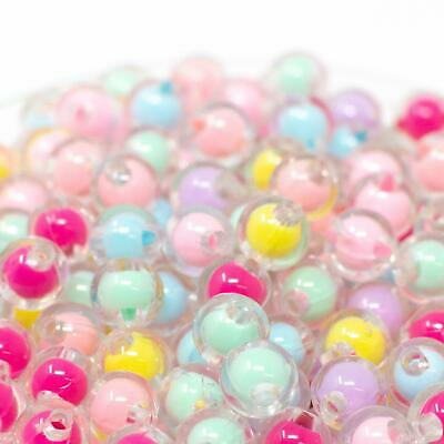 £1.79 • Buy 8mm Round Pastel Bead In Bead Acrylic Beads. Pack Of 100. 2mm Hole